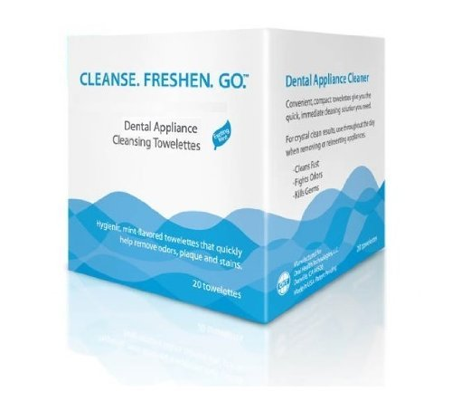 - Dental Appliance Cleansing Towelettes (20 Ct) (3 Pack)