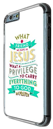 616 - Christian Quote what a friend we have in jesus Design iphone 6 6S 4.7'' Coque Fashion Trend Case Coque Protection Cover plastique et métal