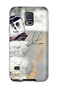 New QyfaAUl154YstFi Snowman On The Road Tpu Cover Case For Galaxy S5