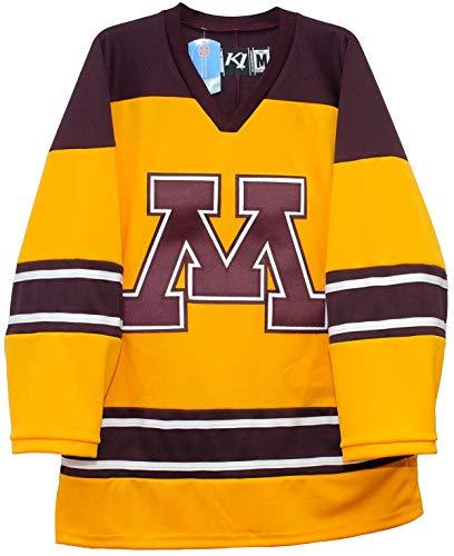 Minnesota Golden Gophers Gold Third Hockey Jerseys by K1 Sportswear (Large)