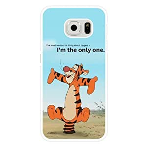 For Iphone 6Plus 5.5Inch Case Cover Diy Disney Tigger White Hard Shell For Iphone 6Plus 5.5Inch Case Cover Tigger Edge Case(Only Fit for Edge)