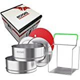Stackable Steamer Insert Pans for Instant Pot - Safety Handle Sling – Fits 6, 8 Qt - Stainless Steel Food Grade Stacking Pots for Pressure Cooker – Two Interchangeable Lids - Gift Quality Packaging