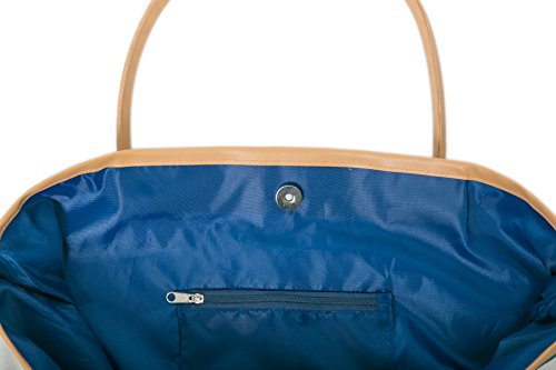 ladies Bag Tote Blue Canvas Womens Shopper Girls Bags Beach Shoulder for Summer dSIvWw
