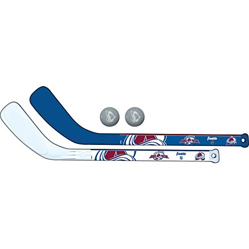 Franklin Sports NHL Colorado Avalanche Mini Hockey 2 Piece Player Stick Set
