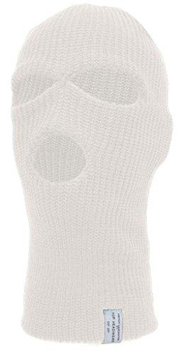 TopHeadwear 3-Hole Winter Ski Mask - White