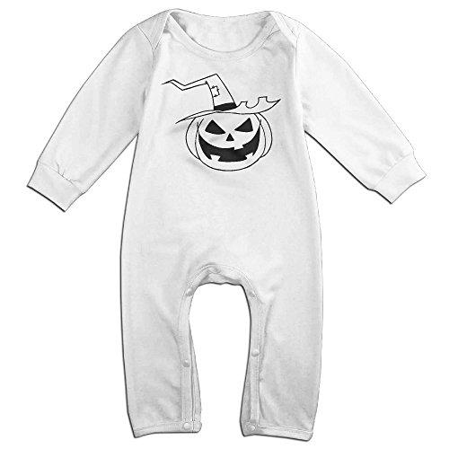 Vinda Cute Halloween Pumpkins Romper For Infant White Size 6 M (Cute Girl Nerd Costumes Halloween)