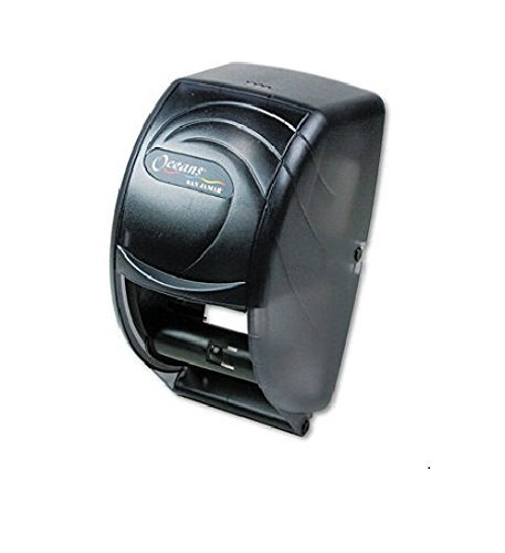 (Oceans Duette Toliet Tissue Dispenser, Plastic Black Translucent by San Jamar)