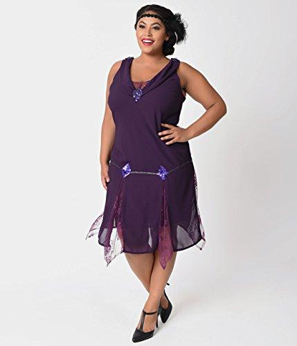 Purple Flapper Dresses Vintage
