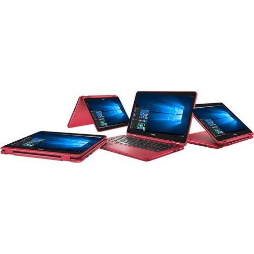 "2019 Dell Inspiron 11.6"" HD 2-in-1 Multi-Touch Display Laptop, AMD A9-9420e CPU, 4GB DDR4 Memory, 256GB SSD, USB 3.1, WIFI, Bluetooth, Webcam, HDMI, Card Reader, AMD Radeon R5, Windows 10, Red"