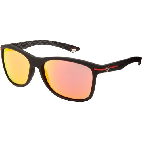 Fox The Double Deuce 07206-905-OS Rectangular Sunglasses,Matte Black & Red Spark,60 - Head Sunglasses