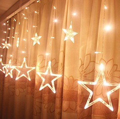 String Lights, LED Window Curtain Fairy Lights 9.8ft x 9.8ft, 306 LEDs, 8 Modes Linkable, String Fairy Light, On Air Light Warm White for Christmas/Halloween/Wedding/Party Backdrops Outdoor (Characters To Be For Halloween)