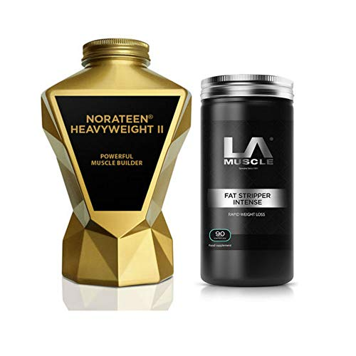 LA Muscle Norateen Heavyweight II + Fat Stripper Intense (Best Usn Product For Muscle Gain)