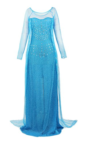 ReliBeauty Womens Princess Elsa Sequin Dress Up Costume (XX-Large, Blue) (Twenties Costume Ideas)