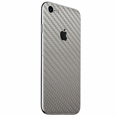 Silver Carbon Fiber SKINTZ Protective Skin Wrap Compatible with iPhone 7 ()