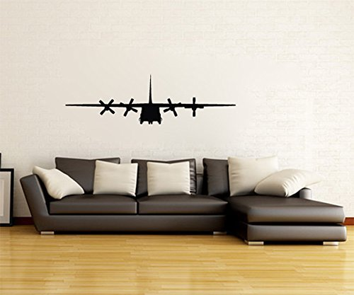Lockheed C-130 Hercules Military Airplane Silhouette Vinyl Wall Decal Sticker
