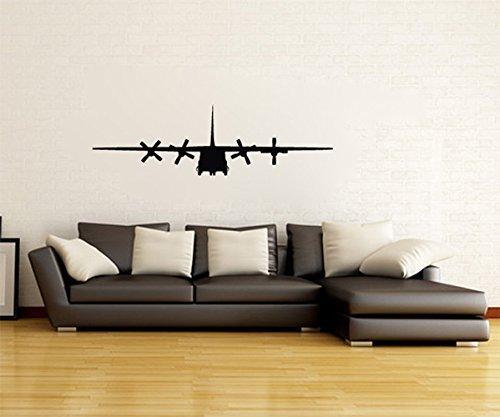 - Lockheed C-130 Hercules Military Airplane Silhouette Vinyl Wall Decal Sticker