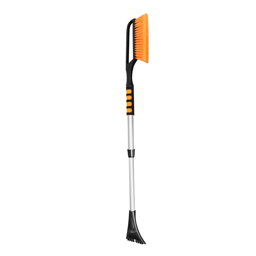Vosarea Extendable Snow Brush with Squeegee, Ice Scraper Emergency Snow Shovel | Foam Grip | Auto Snow Brush | Auto Ice Scraper | Car Truck SUV