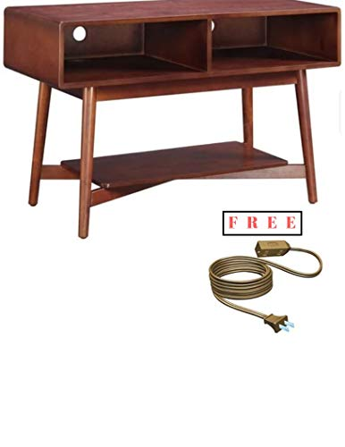 (Carson Wood TV Stand for Flat Screen TV up to 48