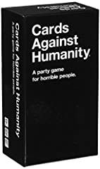 Cards Against Humanity is a party game for horrible people. The game is simple. Each round, one player asks a question from a black card, and everyone else answers with their funniest white card. (This is the main game. Buy this first.)