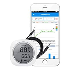 The Temperature & Humidity Smart Sensor IBS-TH1 Plus Data logger can be easy to pair with our Android and IOS phones.The temperature and humidity will display on screen. Which will provide the ideal solution for monitoring T&H conditi...