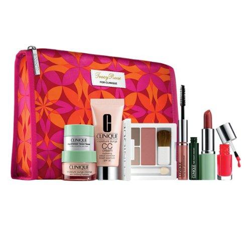 Clinique 2013 Winter 9 Pcs Gift Set Y compris la Nouvelle humidité libérée Surge CC Cream avec Nordstrom Exclusive Tracy Reese Cosmetic Bag