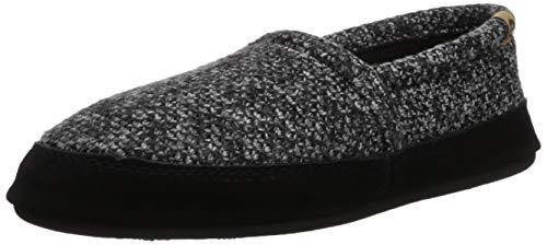 Moc Mens Moccasin - Acorn Men's Moc, Black Tweed, Small / 7.5-8.5