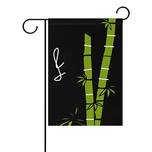 WIHVE Illustration Bamboo Sugar Cane Garden Flag Home Outdoor Patio Seasonal Holiday Fabric 28 x 40 inch Wedding Anniversary Garden Flag -