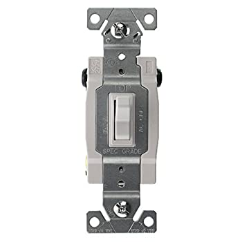 Hubbell RS415WZ Spec Grade Toggle Switch, 4-Way, Grounding, 15-Amp, 120/277-Volt, White