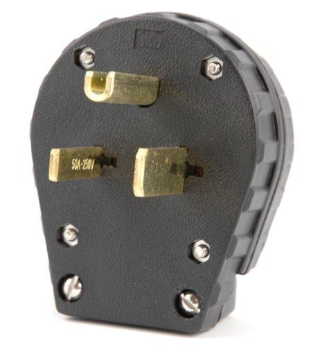 Hot Max 23123 50A Parallel Blade NEMA 6-50P Plug - Nema 50a Plug