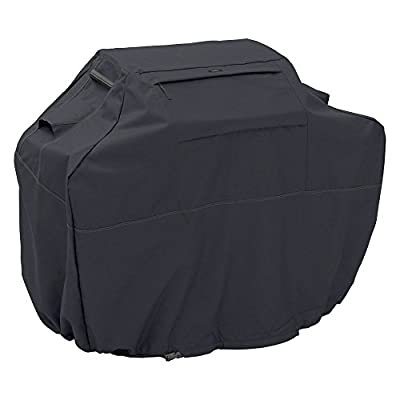 NUMBERNINE,Classic Accessories Ravenna Black BBQ Grill Cover,bbq accessories for charcoal grill