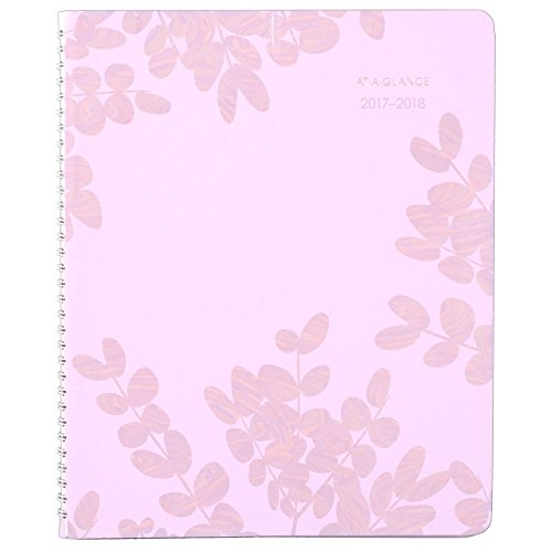 "AT-A-GLANCE Academic Weekly / Monthly Appointment Book / Planner, July 2017 - June 2018, 8-1/2"" x 11"", Aura Blooms, Lavender (585-905A)"