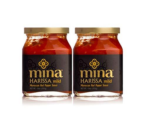 Mina Harissa Mild Moroccan Red Pepper Sauce, 10oz, 2 pack