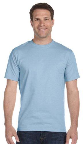 Gildan Mens DryBlend 50 Cotton/50 Poly T-Shirt, Small, Light Blue