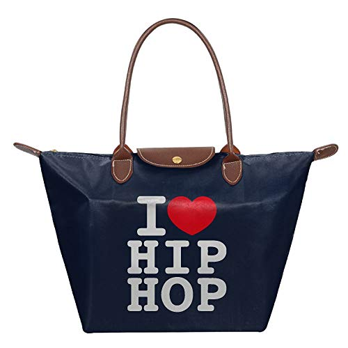 Women's Purses And Handbags, Casual I LOVE HIP HOP Tote Nylon Shoulder Bag For Womens by Mk53Jy-W