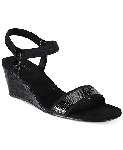 Alfani Womens Giselle Open Toe Casual Ankle Strap Sandals, Black, Size 10.0