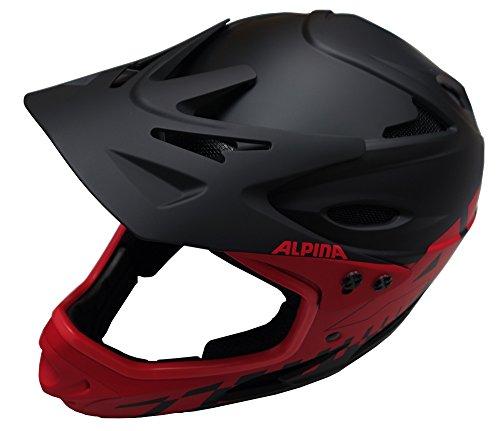 Alpina Radhelm Fullface, Black/Red, 59-60, 9689532