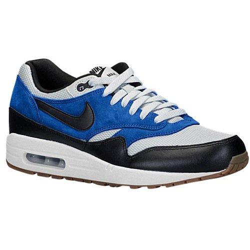 Nike Air Max 1 Essential Running Shoes Black Blue White Grey (14)