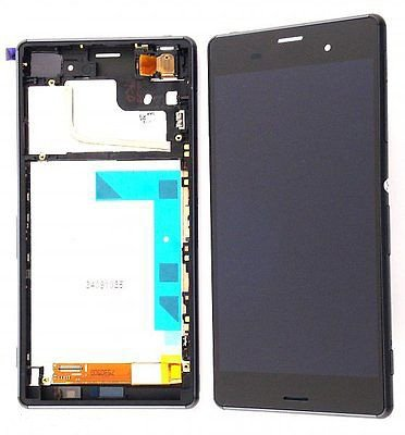 LCD Display Digitizer Touch Screen Assembly for Sony Xperia Compact Z3 D5803 D5833 with Free Tools (Black w/Frame) (Sony Xperia Z3 Screen Replacement)