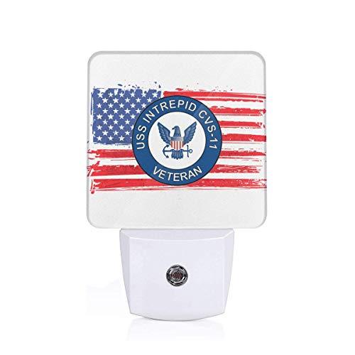 (YAKA US Navy USS Intrepid CVS-11 Ship Veteran Automatic Sensor Plug-in LED Night Light Energy Efficient UK)