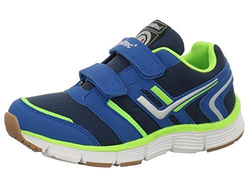 Killtec 28737-814 - Zapatillas para deportes de interior de Material Sintético para niño Dunkelnavy-Neongelb