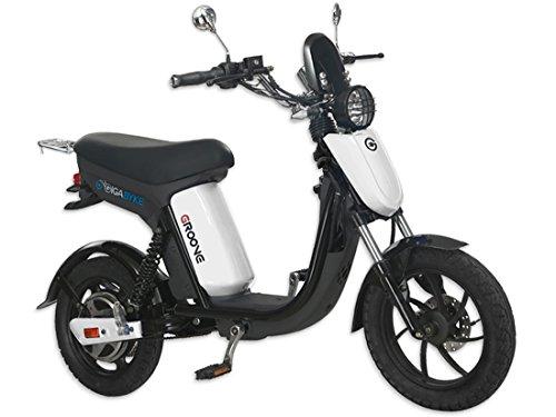 GigaByke Groove - 750W Electric Motorized Bike (White)