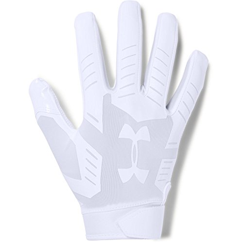 Under Armour mens F6 Football Gloves White (100)/Aluminum Large