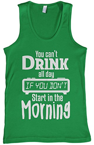 Threadrock Men's You Can't Drink All Day Tank Top S Kelly Green