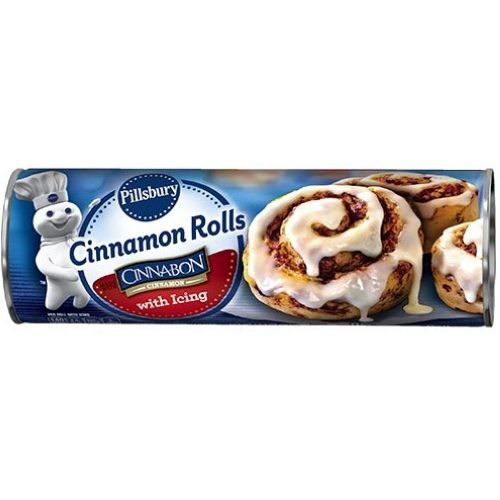 Pillsbury Cinnamon Rolls with Icing, 17.5 Ounce -- 12 per case.