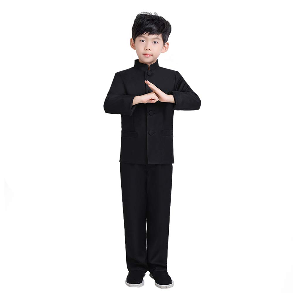 FXNN Republic of China Service - Student May Fourth Youth Zhongshan Costume (Color : Black, Size : 110cm)