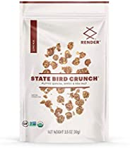 Render State Bird Crunch (Variety Pack), Puffed Quinoa Snack w/ Seeds, Spices, 3.5oz (Pack of 6)