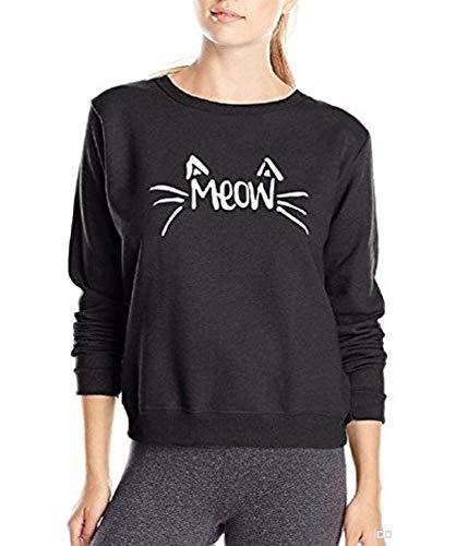Inception Pro Infinite Sudadera - Mujer - Niña - escrita - Meow - Gato - Gatito: Amazon.es: Ropa y accesorios