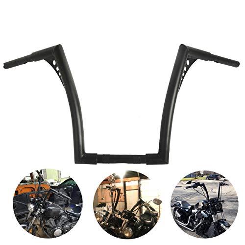 "XFMT Custom 14"" Rise 1 1/4"" Ape Hangers Handlebar Compatible with Harley FLST FXST Sportster XL 883 1200"