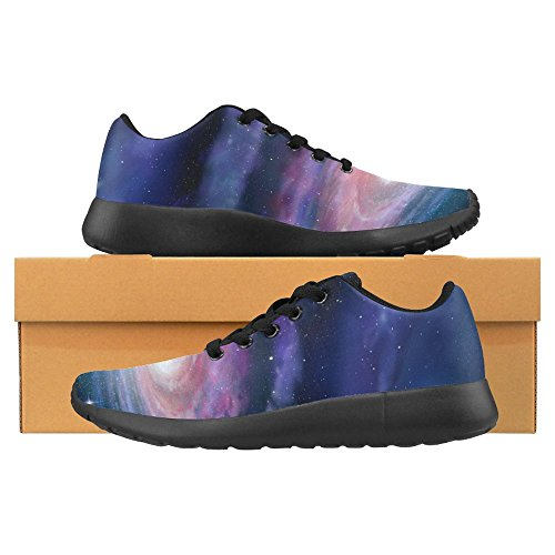 Interestprint Womens Jogging Running Sneaker Leggero Go Easy Walking Casual Comfort Running Scarpe Spirale Galassia Via Lattea Viola Blu Multi 1
