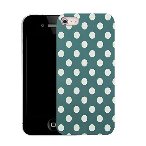 Mobile Case Mate IPhone 4 4S clip on Dur Coque couverture case cover avec Stylet - blue spots motif Motif